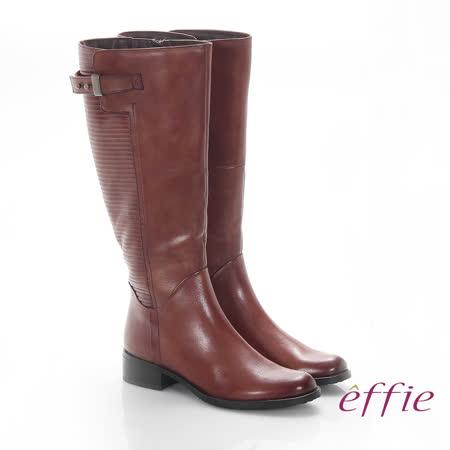 【好物推薦】gohappy線上購物【effie】魅力時尚 真皮立體壓紋低跟直筒長靴(茶)評價如何遠 百 營業 時間