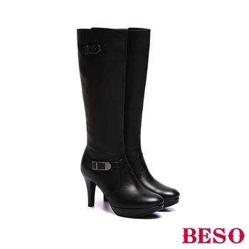 【私心大推】gohappy 線上快樂購【BESO】魅力時尚 全真皮雙扣飾拉鍊高跟長靴(黑)評價如何台南 市 遠東 百貨
