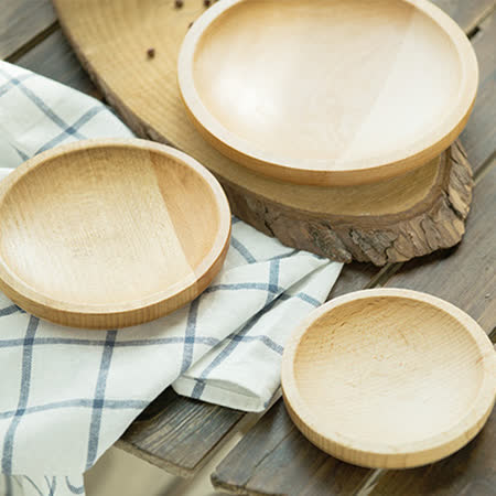 【Homely Zakka】木趣食光木質小碟(淺碟)
