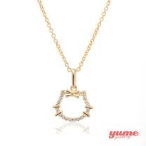 【YUME】K金KT簍空晶鑽項鍊