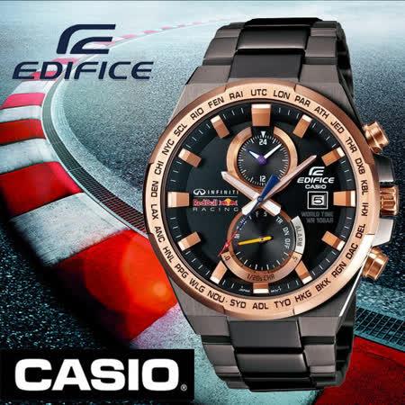 CASIO EDIFICE 紅牛車隊 聯名時尚運動腕錶-EFR-542RBM-1A