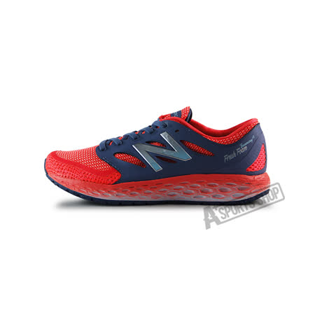 (女)NEW BALANCE 慢跑鞋 亮橘/藍灰-WBORAGP2