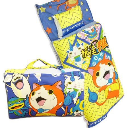 【BabyTiger虎兒寶】卡通造型幼教兒童睡袋- 妖怪手錶-武士慶典-吉胖喵