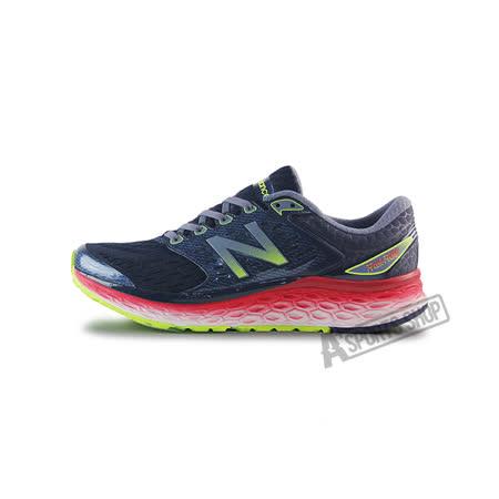 (男)NEW BALANCE 慢跑鞋 黑/螢光黃/紅-M1080BK6