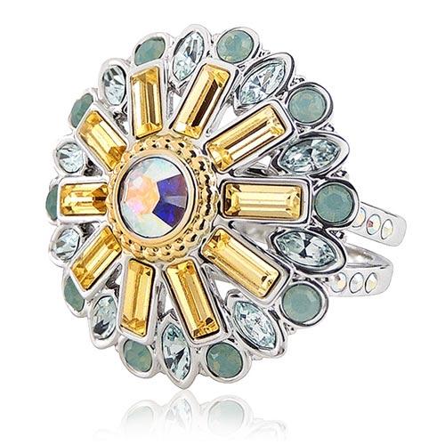 SWAROVSKI 璀璨花朵造型晶鑽戒指【M號】