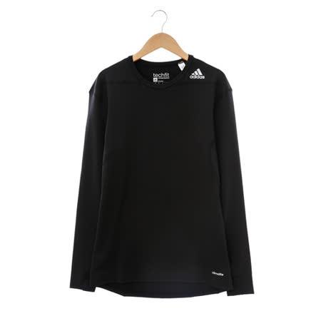 adidas(男)緊身衣(長)-黑-D82057