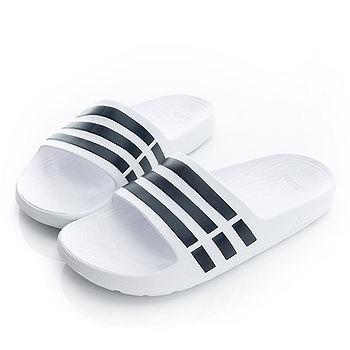 adidas(男女)拖鞋-白/黑-F32892