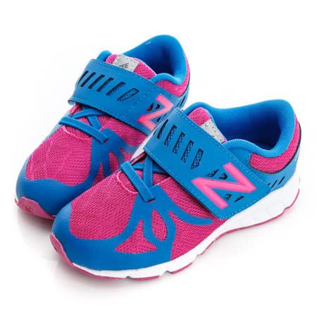 New Balance(童)慢跑鞋-藍/粉色-KVRUSPBI