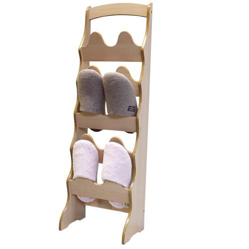 【Asllie】拱形10入鞋插架 -原木色