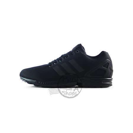(男女)ADIDAS ZX FLUX 慢跑鞋 黑-S79092