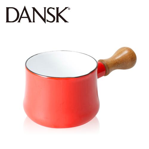 ~丹麥DANSK~柚把迷你琺瑯鍋^(尊貴紅^)