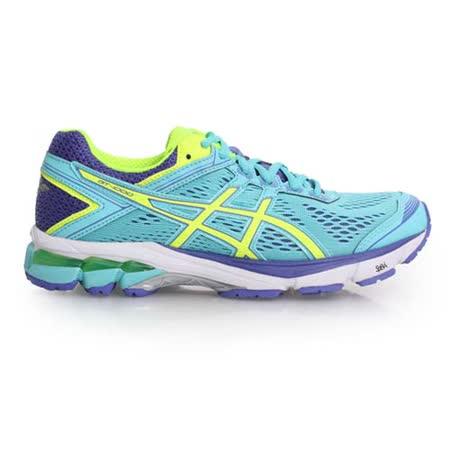 (女) ASICS GT-1000 4 慢跑鞋-D- 路跑 寬楦 亞瑟膠 淺藍螢光黃