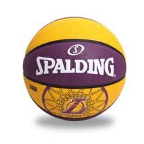 SPALDING LAKERS 湖人隊戶外籃球-七號球 紫黃 F