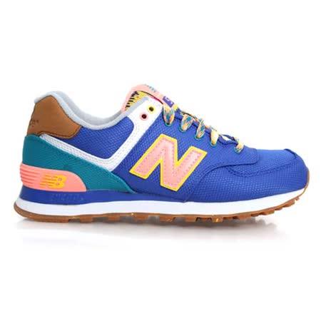 (女) NEWBALANCE 574系列 復古休閒鞋-B- 寬楦 NB N字鞋 藍黃
