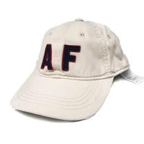 【Abercrombie&Fitch】經典款仿舊貼布棒球帽-白(619389734)