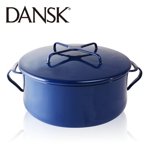 ~丹麥DANSK~琺瑯雙耳燉煮鍋18.5cm^(星空藍^)