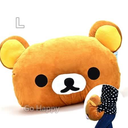 San-X【可愛拉拉熊】暖手頭型抱枕-大