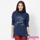 SOMETHING INDIGO高領T恤-女-中古藍