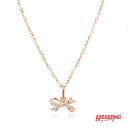 【YUME】K金緞帶蝴蝶晶鑽項鍊