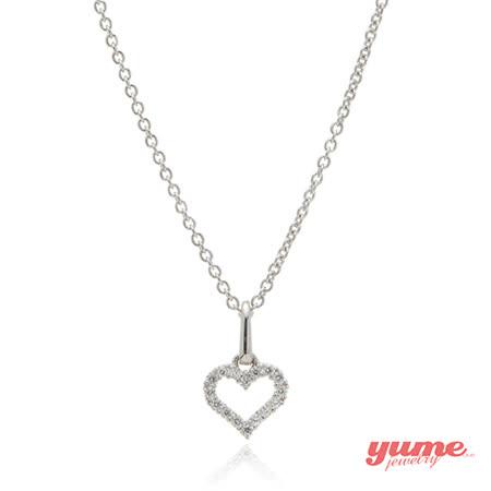 【YUME】K金小愛心結晶鑽項鍊