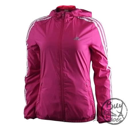 ADIDAS(女) 愛迪達 EN 3S WNDBRKR 外套 紫紅-AJ1222
