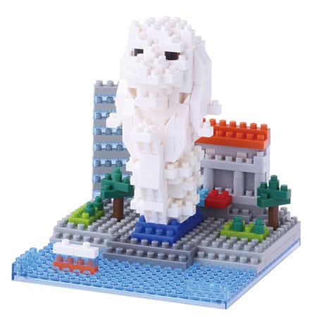 《 Nano Block 迷你積木》【世界主題建築系列】NBC-105 新加坡魚尾獅