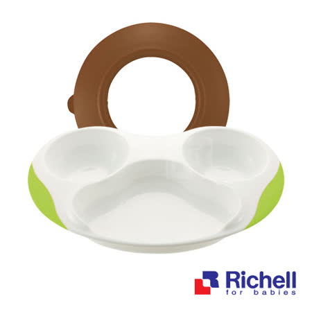 Richell日本利其爾 ND 套餐盤+吸盤