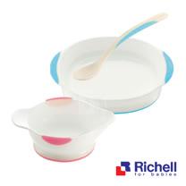 Richell日本利其爾 ND 磨碎用小盤(附湯匙)+ND 餐盤(單)