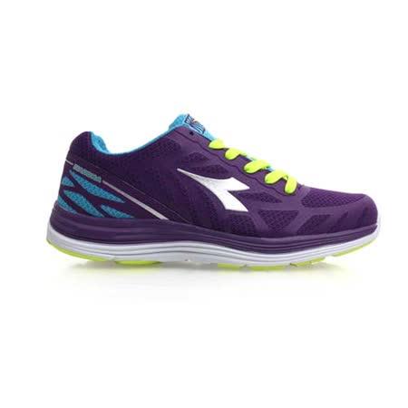 (女) DIADORA 慢跑鞋-寬楦 路跑 健身 訓練 深紫水藍