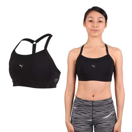(女) PUMA PWRSHAPE中衝擊運動內衣-BRA 慢跑 有氧 瑜珈 背心 黑銀