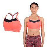 (女) PUMA PWRSHAPE中衝擊運動內衣-BRA 慢跑 有氧瑜珈 背心 灰亮橘