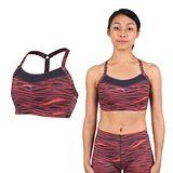 (女) PUMA PWRSHAPE中衝擊運動內衣-BRA 慢跑 有氧瑜珈 背心 黑粉橘