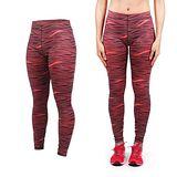 (女) PUMA 訓練印花緊身長褲-緊身褲 慢跑 路跑 瑜珈 有氧 健身 韻律 咖啡橘