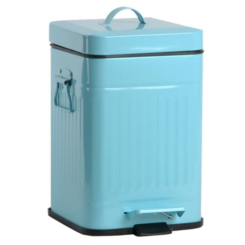 PUSH^! 居家 用品 colourful液壓自動緩降垃圾桶 置物桶 12升^(L^)I