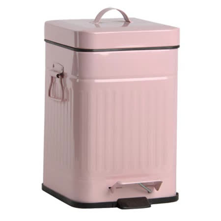 PUSH! 居家生活用品 colourful液壓自動緩降垃圾桶 置物桶 12升(L)I13粉紅色
