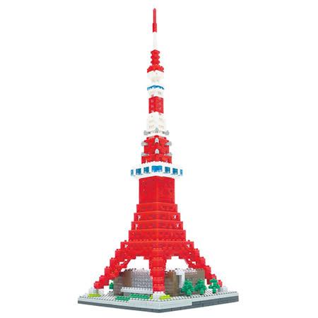 《Nano Block迷你積木》【世界主題建築系列】 NB-022東京鐵塔DX豪華新版