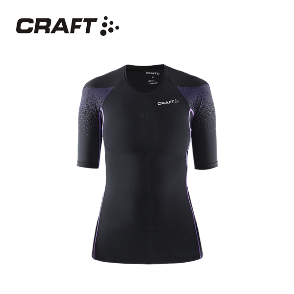 CRAFT DELTA女款 壓縮短袖上衣 黑紫