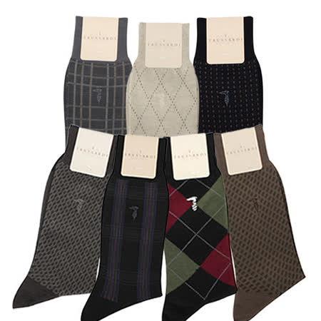 TRUSSARDI 舒適棉質紳士襪-任選5雙