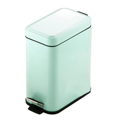 PUSH^! 居家 用品 colourful液壓緩降方型垃圾桶 置物桶 5升藍色I19~1