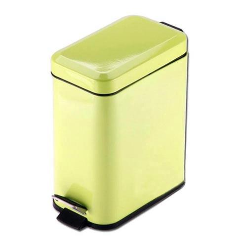 PUSH^! 居家 用品 colourful液壓緩降方型垃圾桶 置物桶 5升檸檬綠I19~
