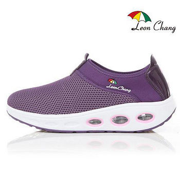 LC雨傘 氣墊彈力健走鞋女款-紫色(Eur36~39)