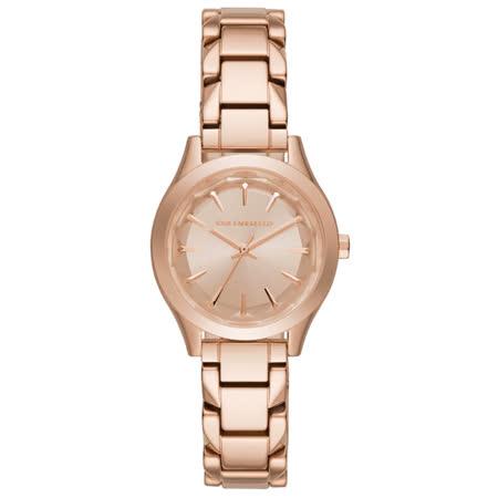KARL LAGERFELD 名模風範三針腕錶-玫瑰金