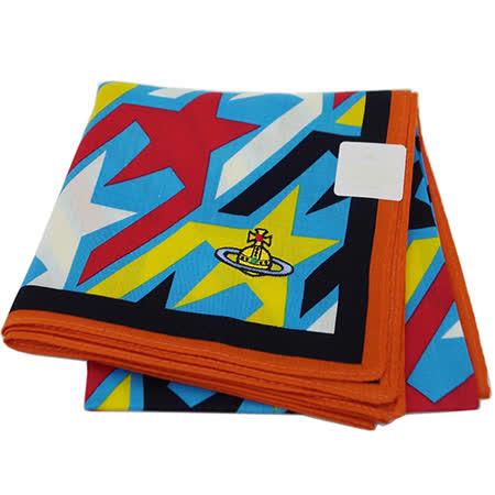 Vivienne Westwood 繽紛星星圖騰方型帕領巾(彩色)