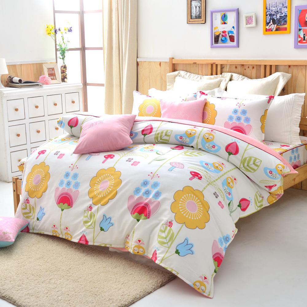 美夢元素 小步舞曲 精梳純棉雙人四件式 全鋪棉兩用被床包組
