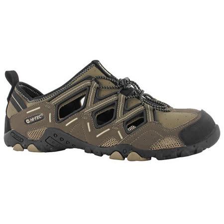 HI-TEC(男款)英國戶外護指涼鞋-BAHAMA SPORT-灰褐F000438043