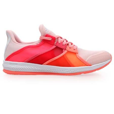(女) ADIDAS GYMBREAKER BOUNCE 室內多功能運動鞋 橘桃紅