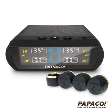 PAPAGO ! TireSafe S60E無線太陽能胎外式胎壓偵測器(兩年保固)