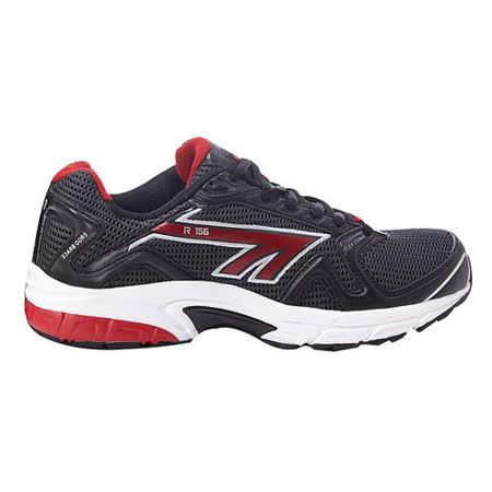 HI-TEC(男款) 英國戶外- (漆黑)慢跑鞋R156- A001742027