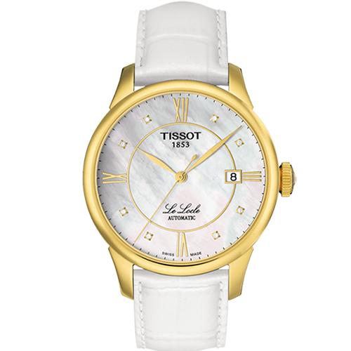 TISSOT LE LOCLE 經典真鑽奢華時尚機械腕表-40mm/T41545386