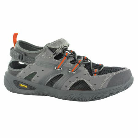 HI-TEC(男款灰)英國戶外黃金大底/輕量水陸護指涼鞋O002971021